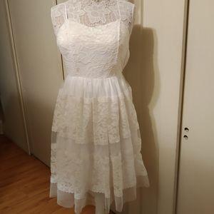 ModCloth White Lace Dress